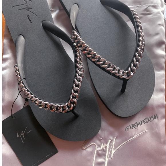Mens Chain Flip Flop